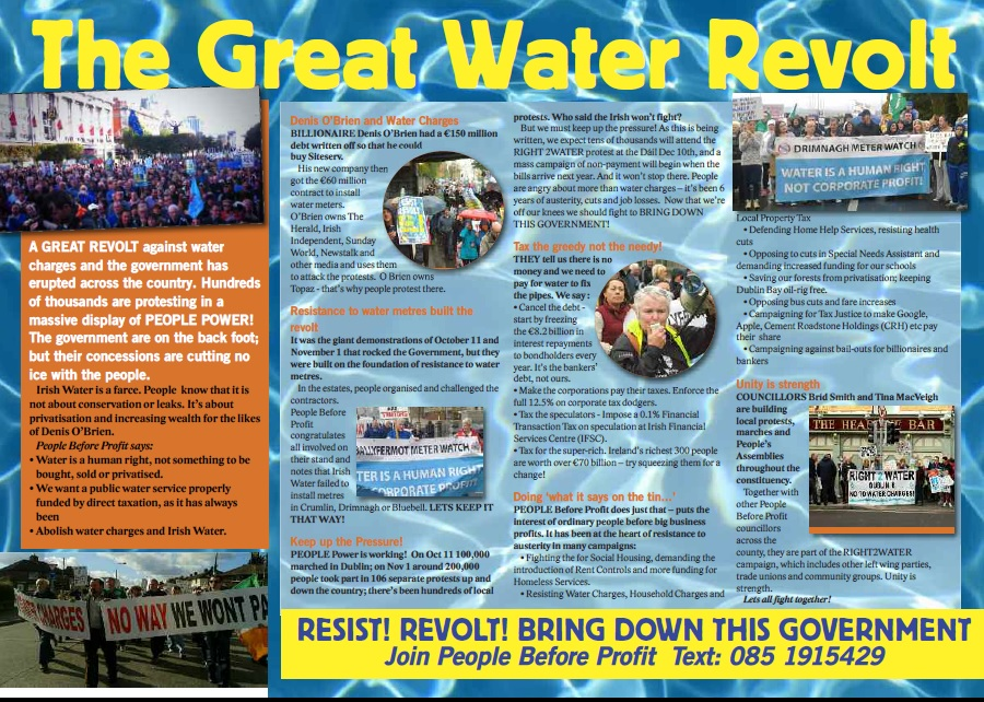 The Great Water Revolt Leaflet inside