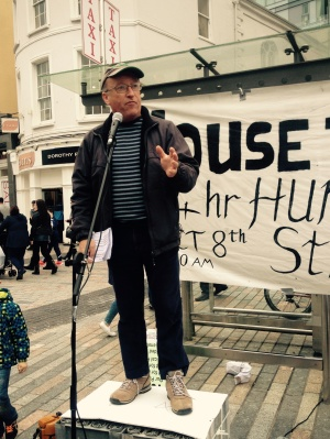 Jim O'Connell, PBP Cork speaking at House the Homeless Rally in Cork